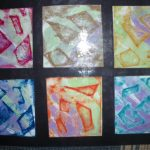 Block Prints rubbings and wash