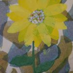 Sunflowers printmaking and collage