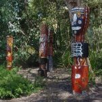 Carved totems finished